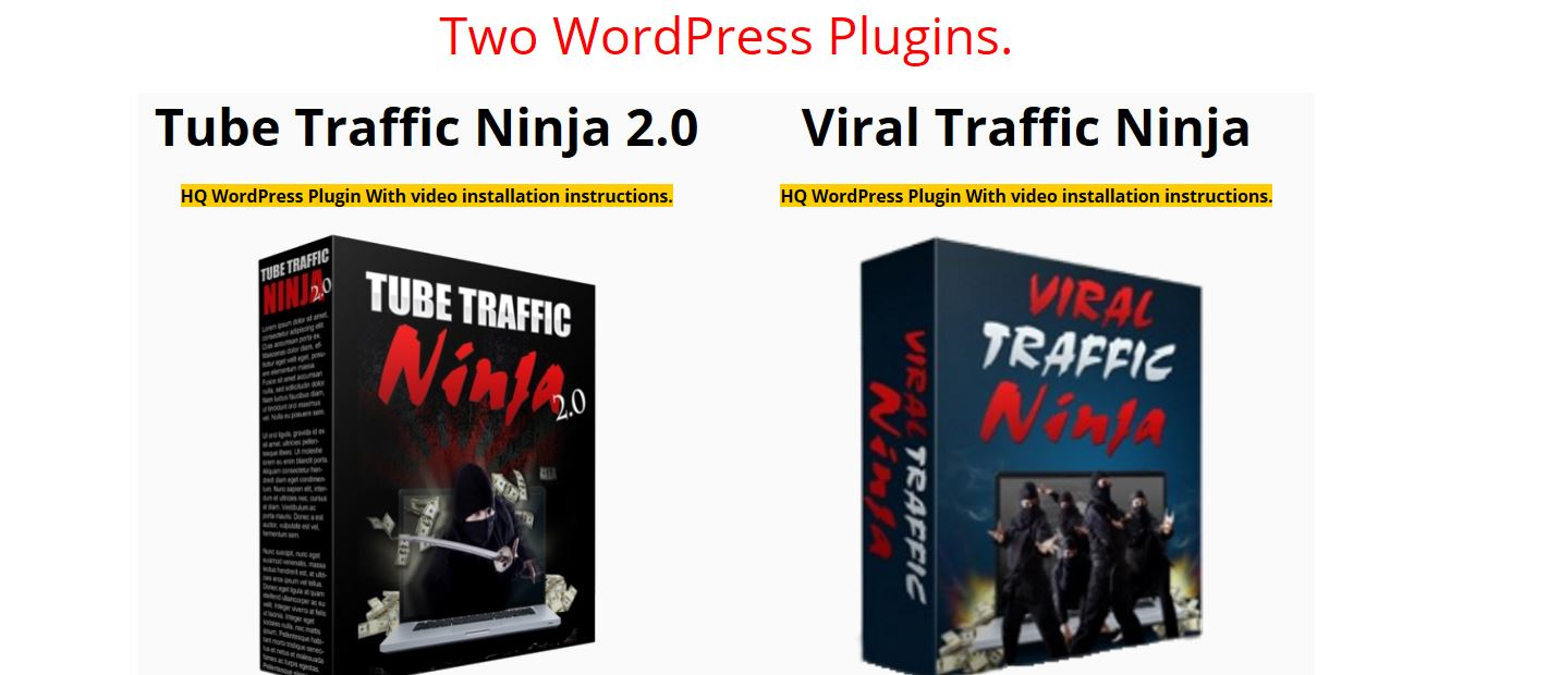 Viral Traffic Ninja & WP Tube Ninja Review