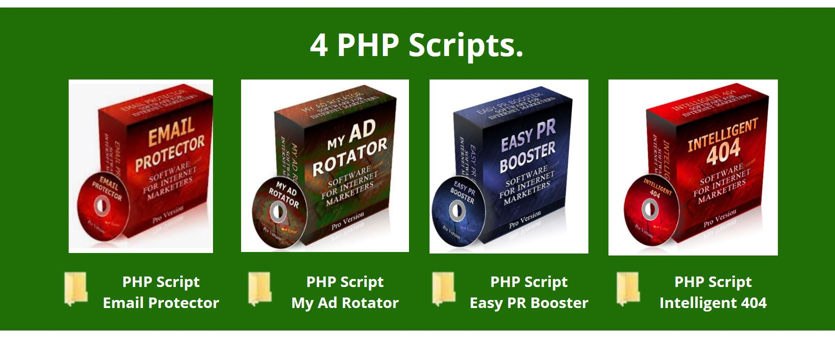 4 PHP Scripts